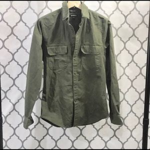 Express Olive Green Button Down